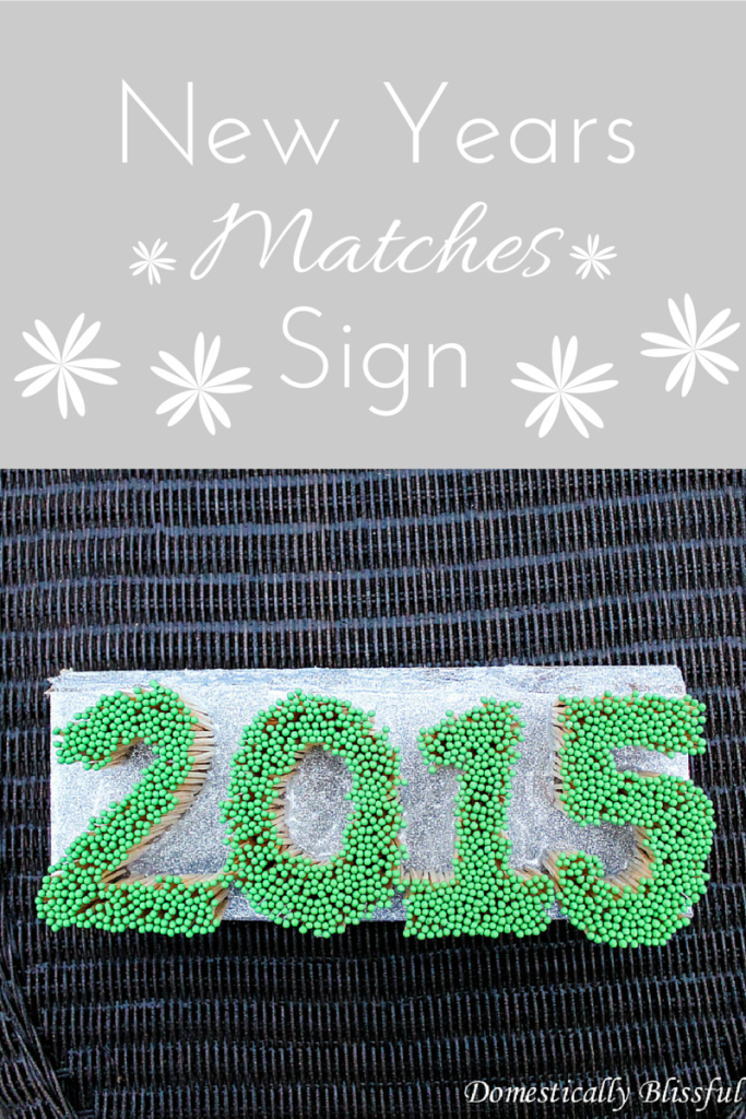 New Years Matches Sign