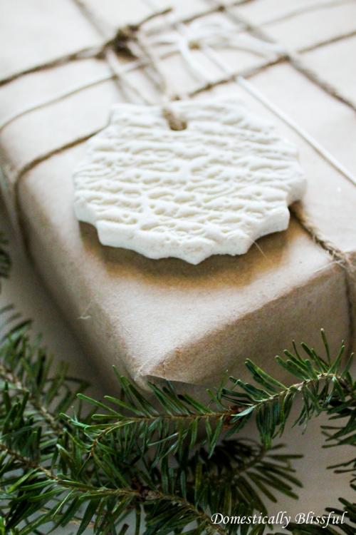Salt Dough Gift Ornament
