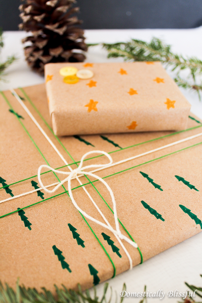 Stars & Christmas Trees Wrapping Paper