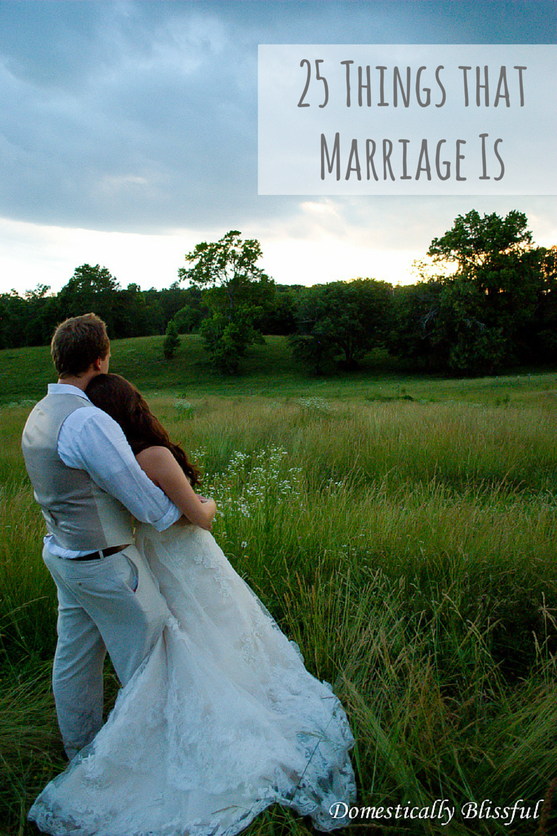 25 Things That Marriage Is