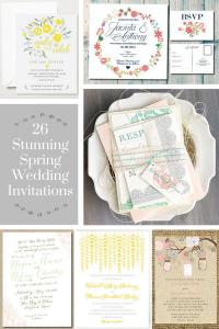 26 Stunning Spring Wedding Invitations
