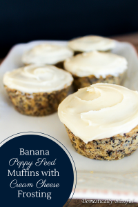 Banana Poppy Seed Muffins with Cream Cheese Frosting