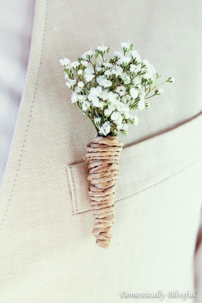 DIY Wedding Boutonnieres