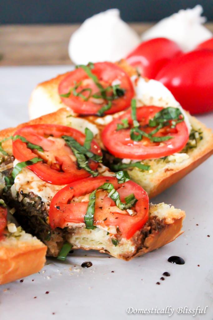 Garlic Caprese Bread