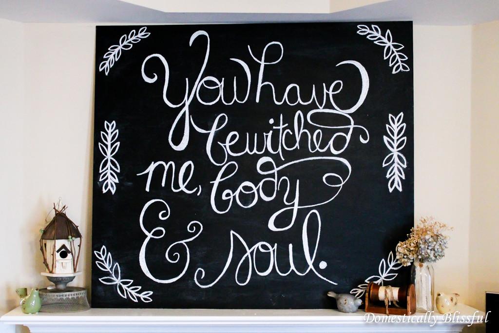 Jane Austen Chalkboard