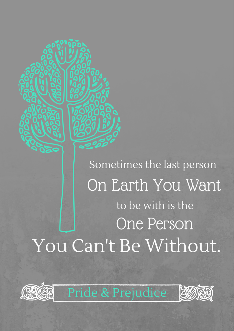 Sometimes the last person on earth you want to be with is the one person you can't be without