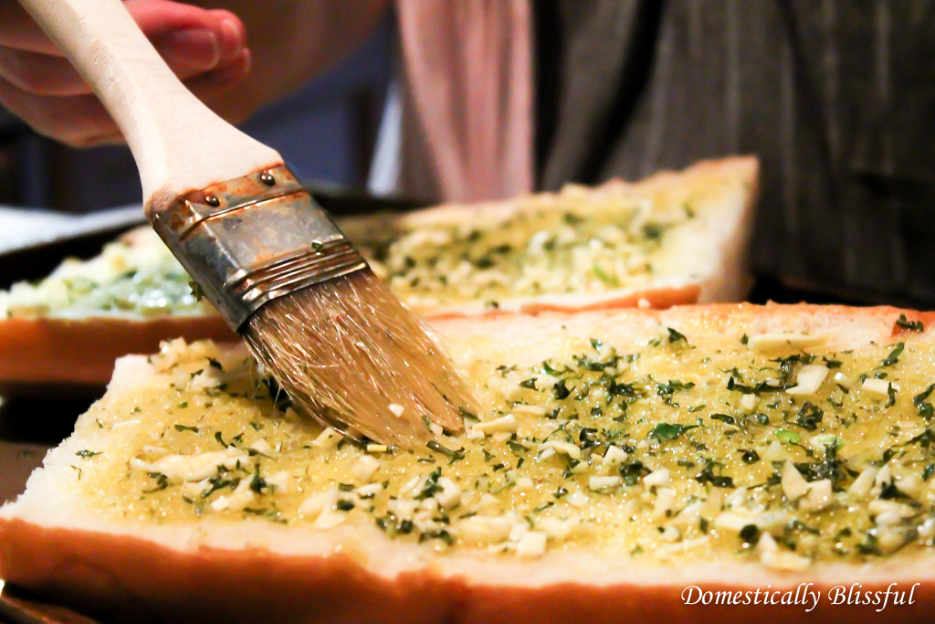 Spread the EVOO on the bread