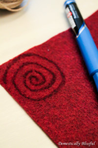 Swirl pattern on felt