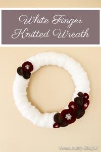 White Finger Knitted Wreath