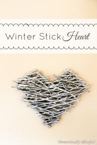 Winter Stick Heart