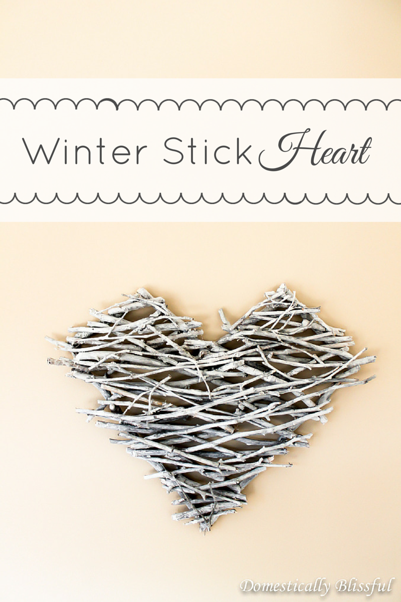 Winter Stick Heart