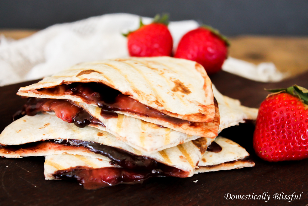 Breakfast Quesadilla with Strawberries