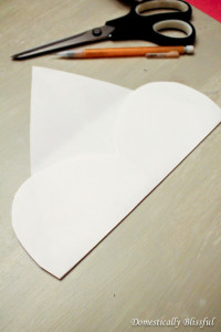 Cut out heart and fold