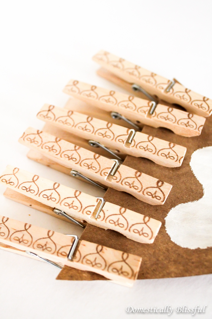 DIY Baby Shower Clothespins