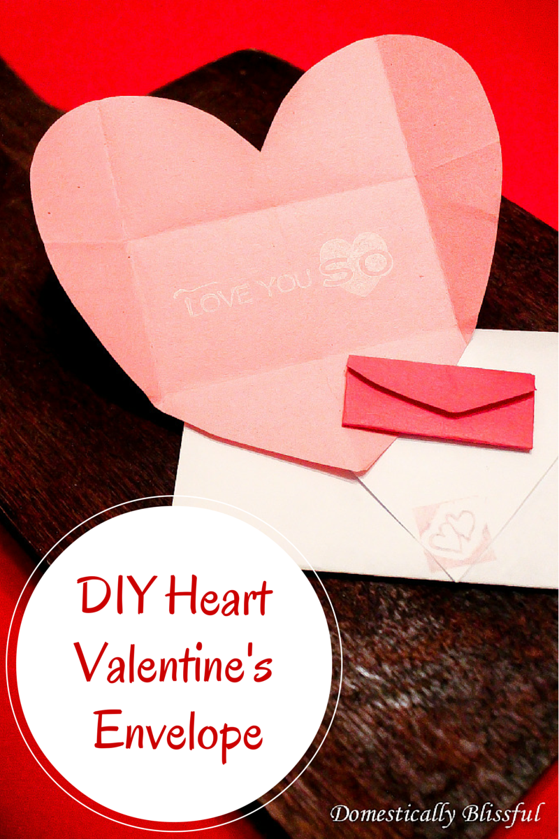 DIY Heart Valentine's Envelope