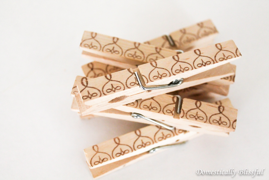 DIY Wedding Shower Clothespins