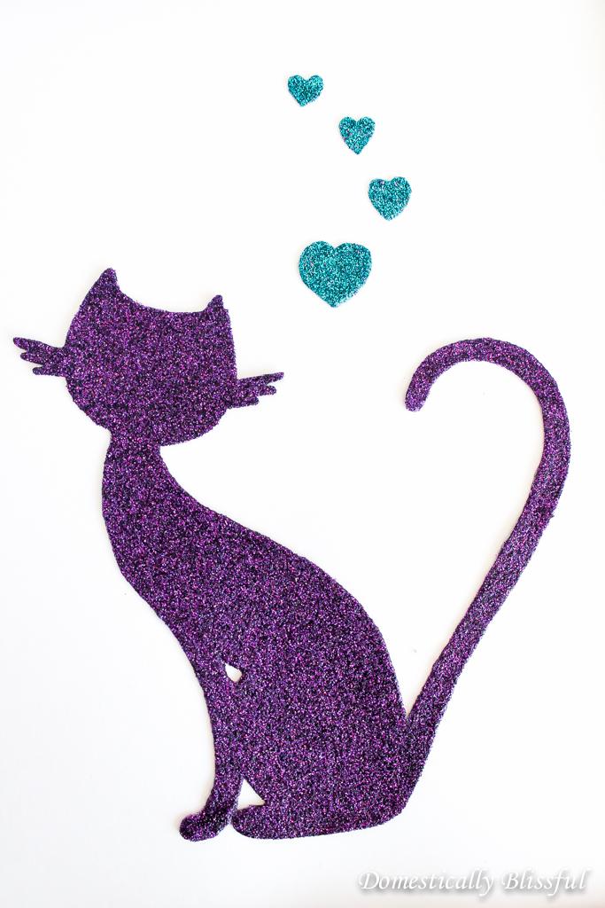 Glitter Cat Silhouette Picture