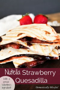 Nutella Strawberry Quesadilla