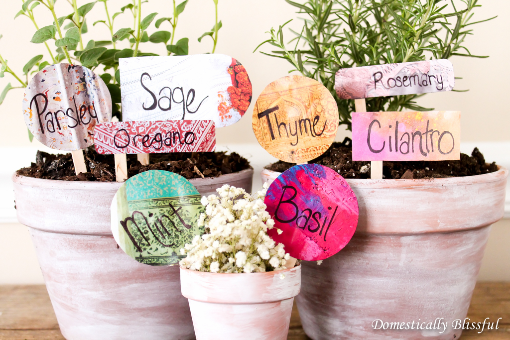 Anthropologie Catolog Upcycled Herb Garden Markers