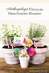 Anthropologie Upcycled Herb Garden Markers