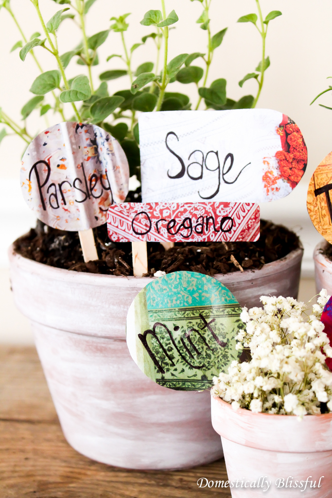 DIY Anthropologie Catalog Garden Markers