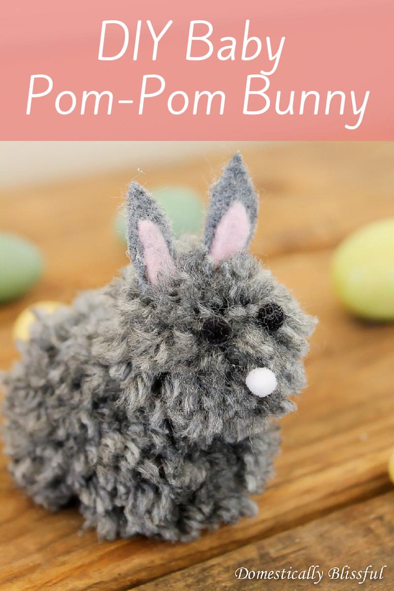 DIY Baby Pom-Pom Bunny