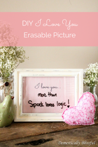 DIY I Love You Erasable Picture