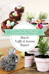 Domestically Blissful's March Traffic & Income Report