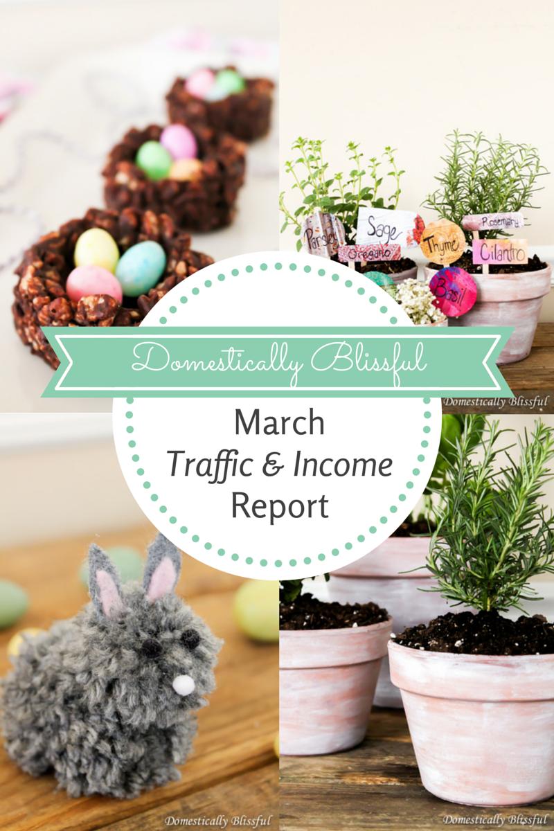 Domestically Blissful's March Traffic & Income Report
