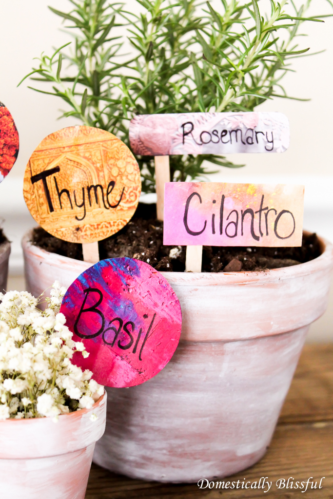 Upcycled Herb Garden Markers