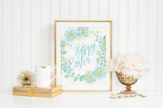 Etsy printables to decorate your home for Easter.
