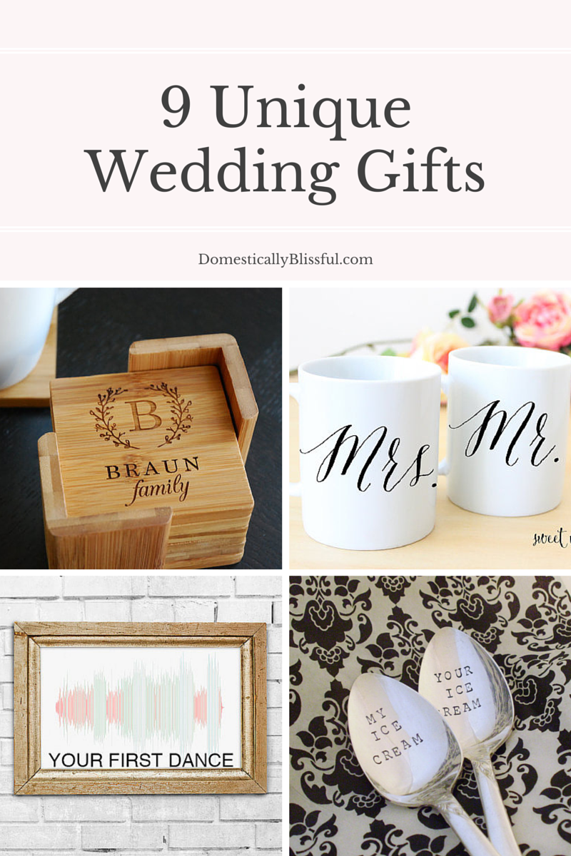 Unusual Wedding Gifts To Make : This post may contain affiliate links.