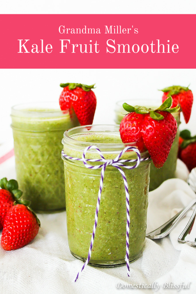 Grandma Miller's Kale Fruit Smoothie is fresh, colorful, & full of delicious flavors!