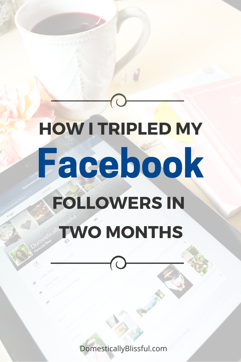 How I Tripled My Facebook Followers in Two Months