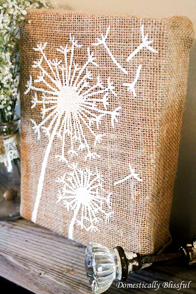 Painted Dandelion Art