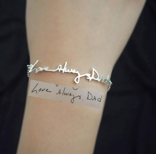 Etsy Signature Handwriting Bracelet