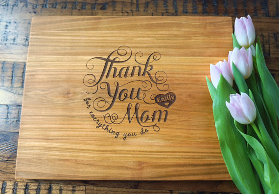 Personalized Mother's Day Cutting Board