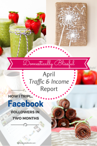 April Traffic & Income Report