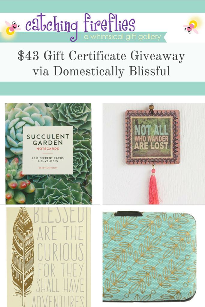 Catching Fireflies $43 Gift Certificate Giveaway