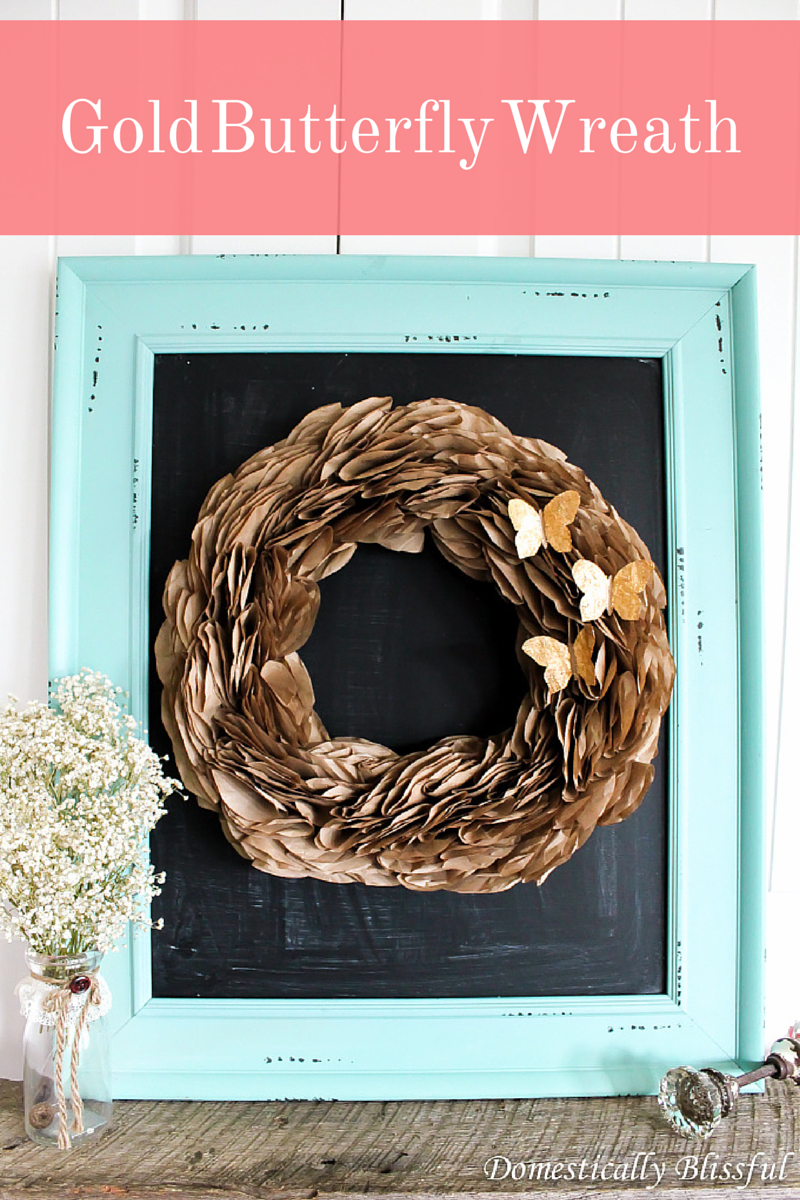 DIY Gold Butterfly Wreath
