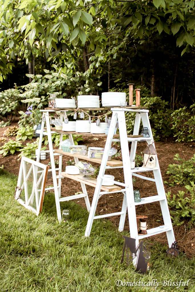 Ladders for Plates Napkins & Utensils