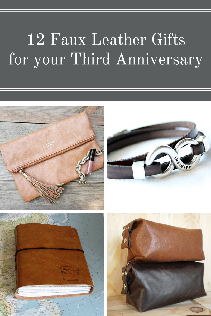 12 Faux Leather Gifts for Your Third Anniversary