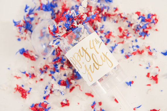 4th of July Confetti Party Popper