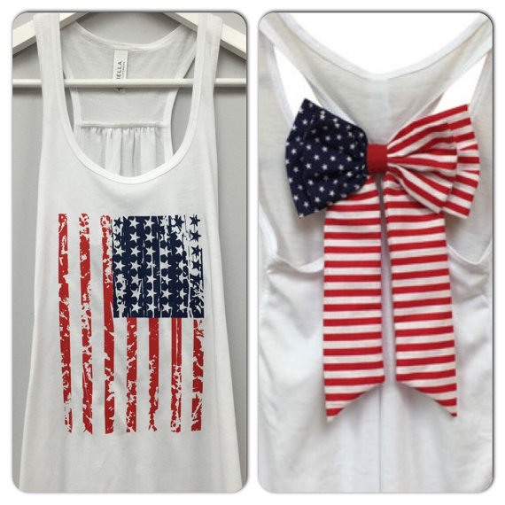 American Flag Bow Tank