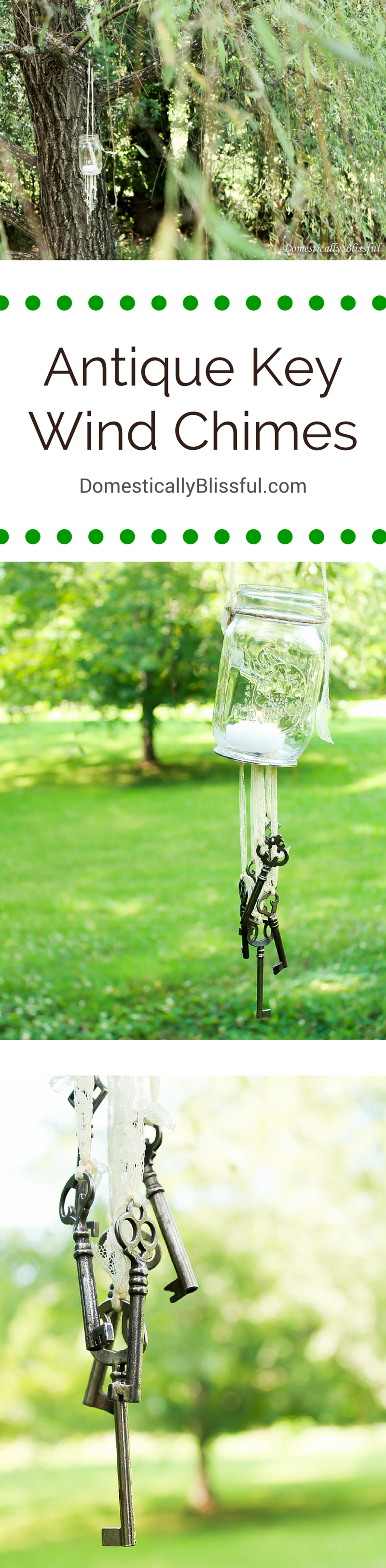 Antique Key Wind Chimes by Domestically Blissful