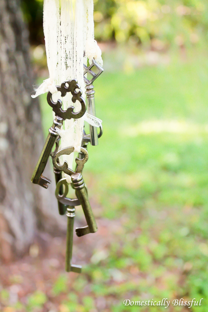 Antique Keys on Lace