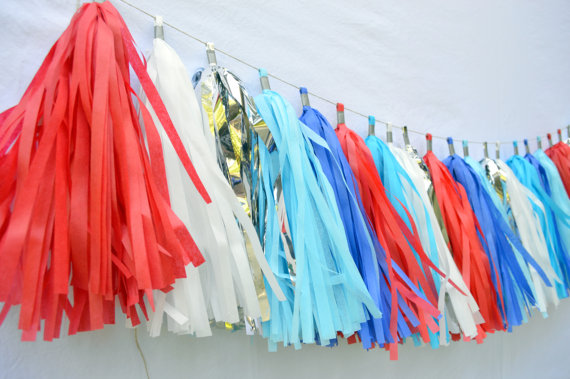 Red White & Blue Tassels