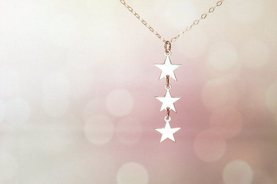 Triple Star Sterling Silver Necklace