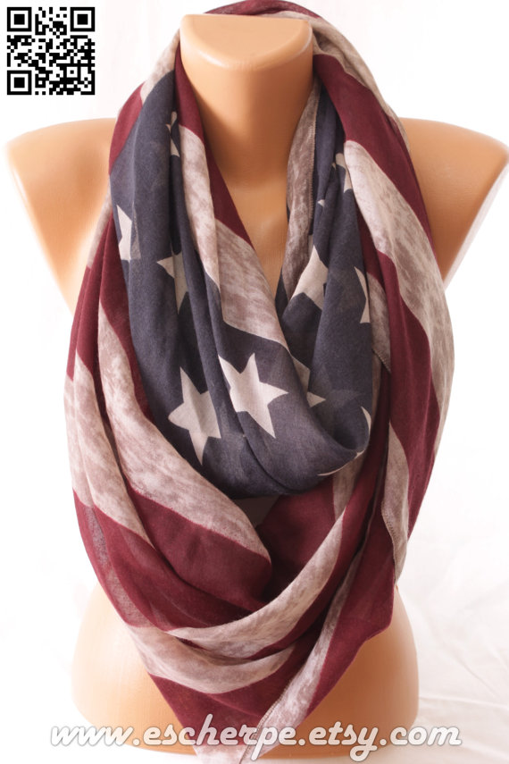 Vintage Inspired Flag Scarf