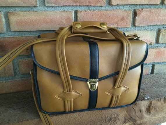 Vintage Faux Leather Camera Bag